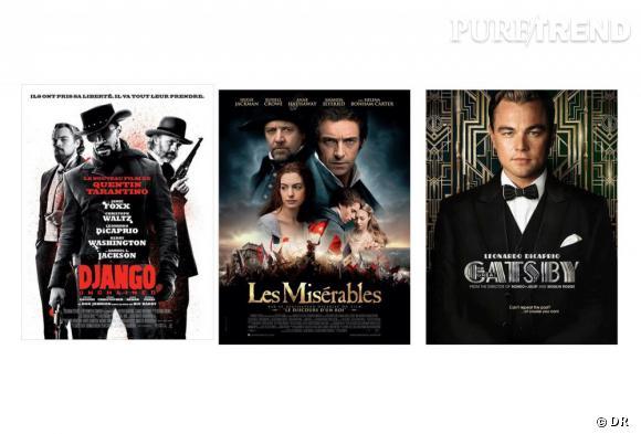 """En 2013 on sera cinéphile ! Parmi les  films les plus attendus de l'année  : """"Django"""", """"Les Misérables"""" et """"Gatsby""""."""