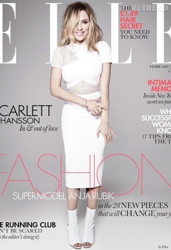 Scarlett Johansson pose pour le Elle UK du mois de février 2013.