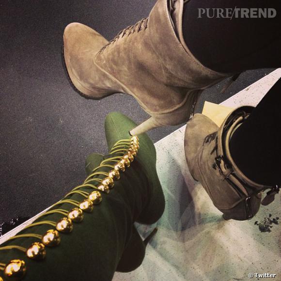 Kendall Jenner s'est rendue au match de basket de son beau frère Lamar... et elle tweete ses chaussures et celles de Khloe.