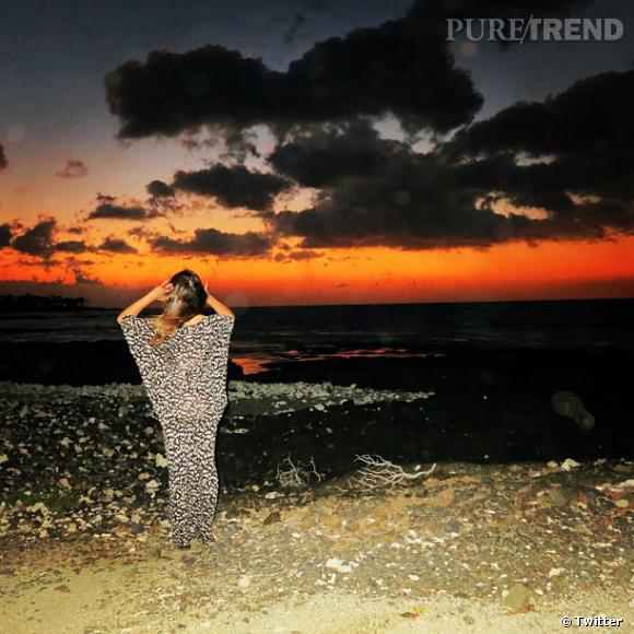 Lea Michele poste une dernière photo de vacances avant de reprendre le travail !