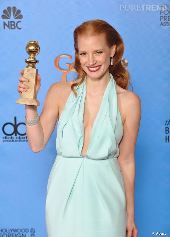 Jessica Chastain, sacrée meilleure actrice aux Golden Globes !