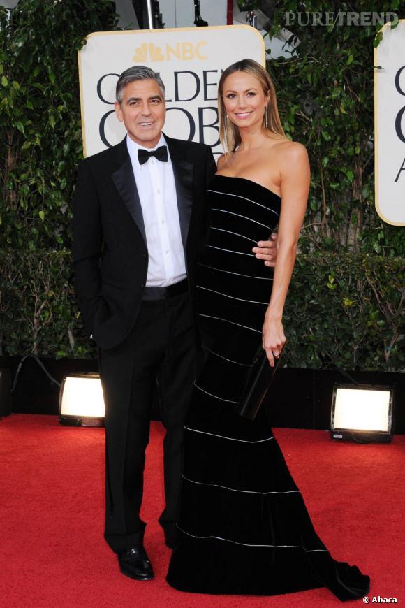 George Clooney et Stacy Keibler.
