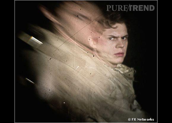 "Evan Peters actuellement dans ""American Horror Story: Asylum""."