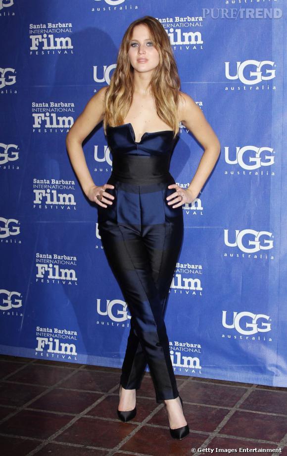 Jennifer Lawrence est venue récupérer un énième prix au 28ème Festival du Film de Santa Barbara, samedi.