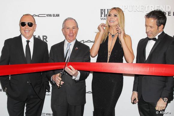 Heidi Klum a inauguré le gala de l'amfAR qui marque le début de la Fashion Week de New York.