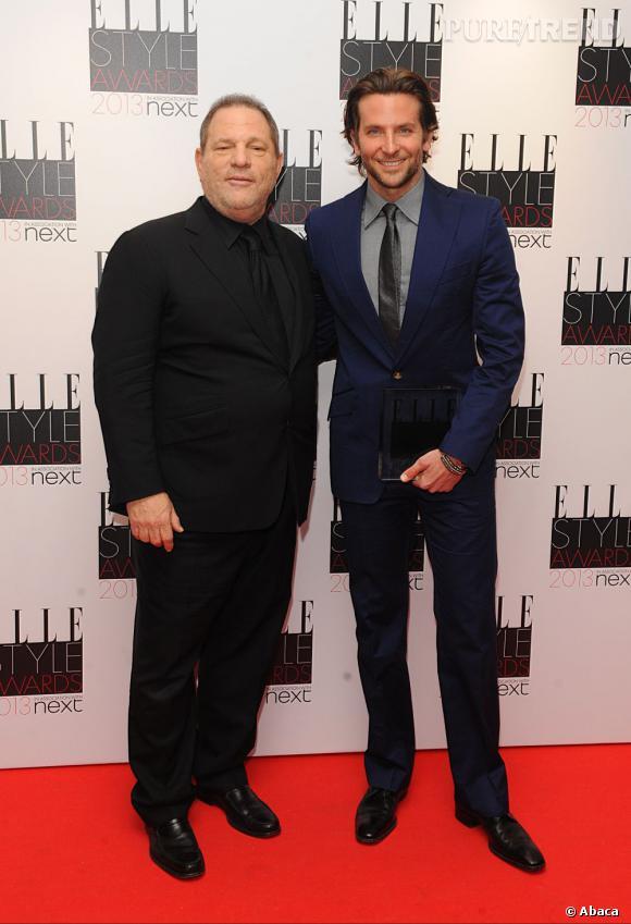 Bradley Cooper en Vivienne Westwood et Harvey Weinstein aux Elle Style Awards à Londres.