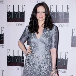 Andrea Riseborough aux Elle Style Awards à Londres porte une robe Matthew Williamson.