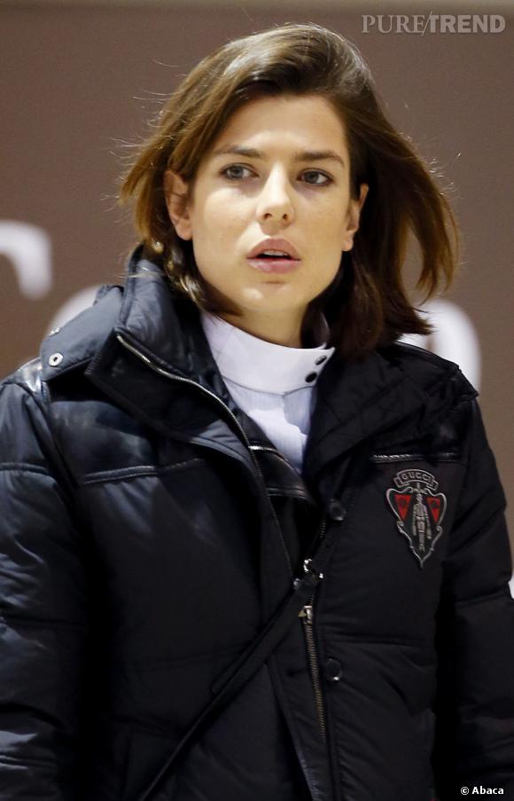 Charlotte Casiraghi a adopté le carré pour la compétition d'équitation du Jumping International de Bordeaux.
