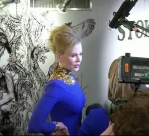 """La vidéo de la première de """"Stoker"""" avec Nicole Kidman à Londres le 18 février 2013."""