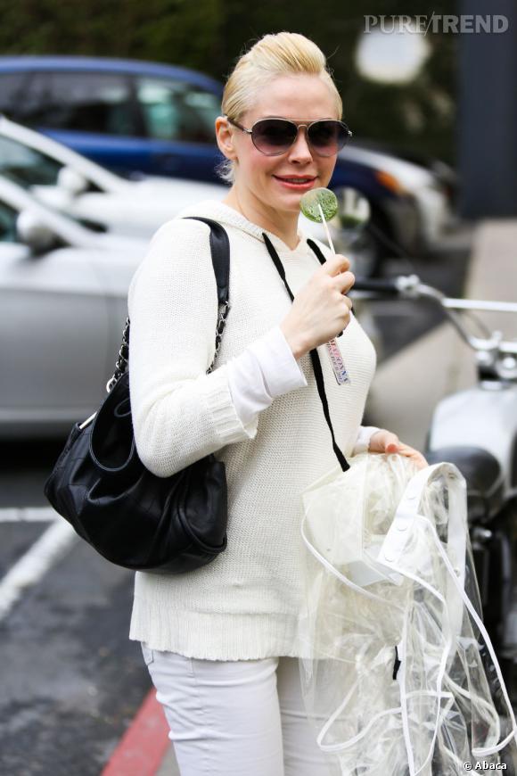 Rose McGowan, catastrophe mode dans les rues de Los Angeles le 19 février.