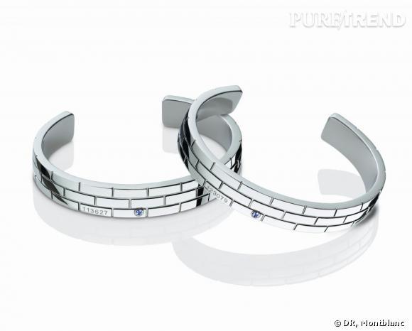 Collection Montblanc Signature for Good 2013 en soutien à l'Unicef. Bracelet en acier inoxydable et saphir bleu, 330€.