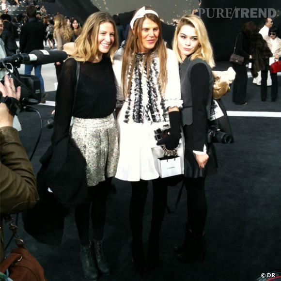 Anna Dello Russo se fait des copines chez Chanel. Sympa la fashionista.