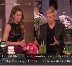 Jessica Alba : atelier cuisine et beaute chez Ellen DeGeneres