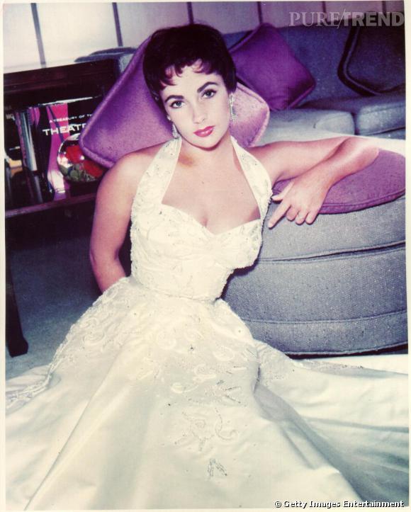 Elizabeth Taylor, coupe garçonne ultra avant-gardiste et robe de poupée.