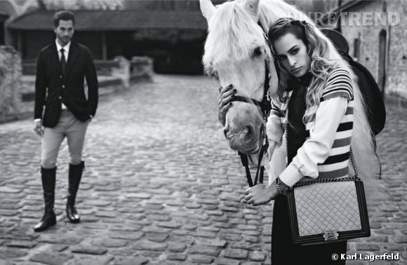 Alice Dellal, visage des sacs Boy de Chanel.