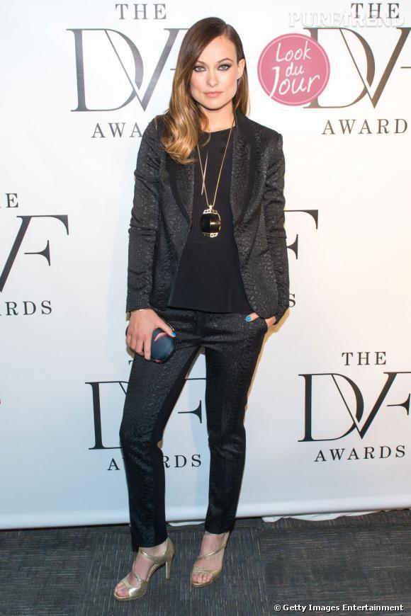 Olivia Wilde aux Diane Von Furstenberg Awards à New York.