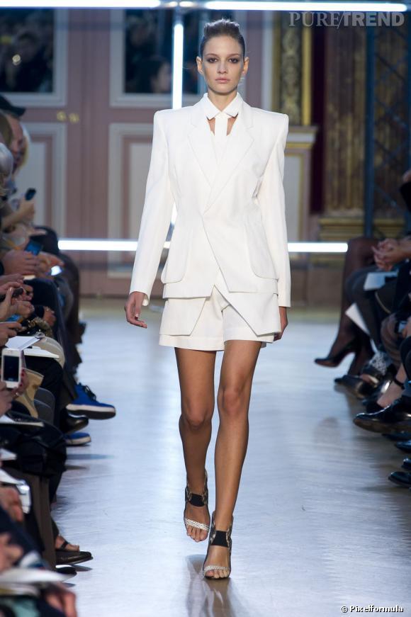 tailleur short blanc
