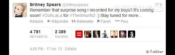 La star est tellement heureuse qu'elle le tweete !