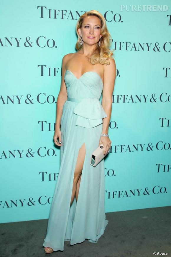 Robe cocktail bleu tiffany