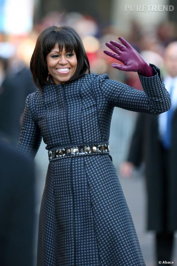 Michelle Obama aborde la cinquantaine de façon pimpante. Elle se classe en 5e position du sondage.