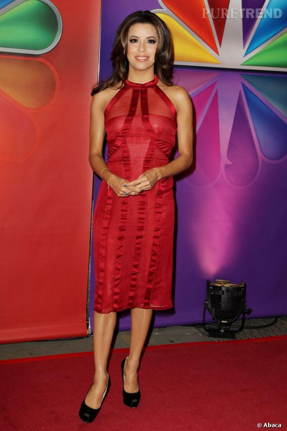 """Eva Longoria en direct de """"Ready for Love"""" lors de la présentation de la NBC en 2012."""