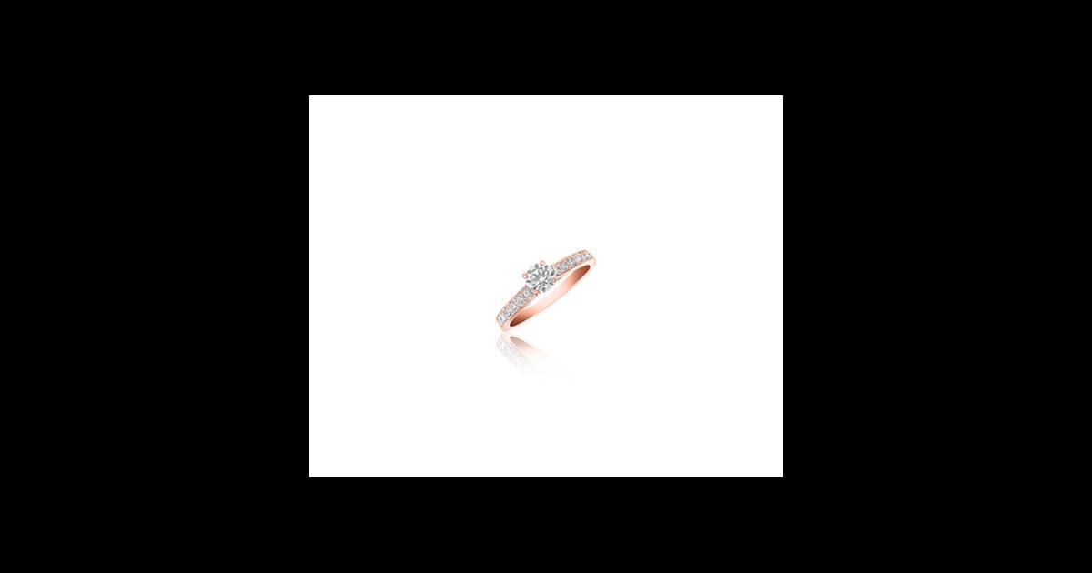 Adamence Bague Ic 244 Ne En Or Rose 18cts Et Diamants 2 030