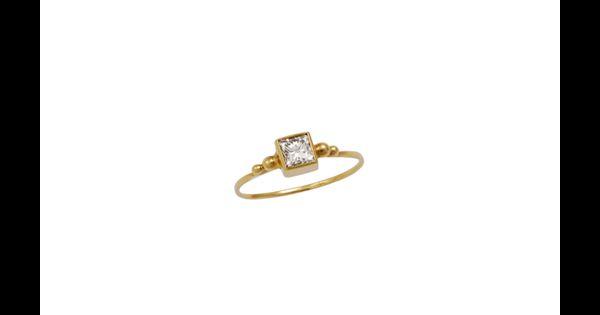 Emmanuelle Zysman Bague Quot Princesse Quot En Or Jaune Et Diamant