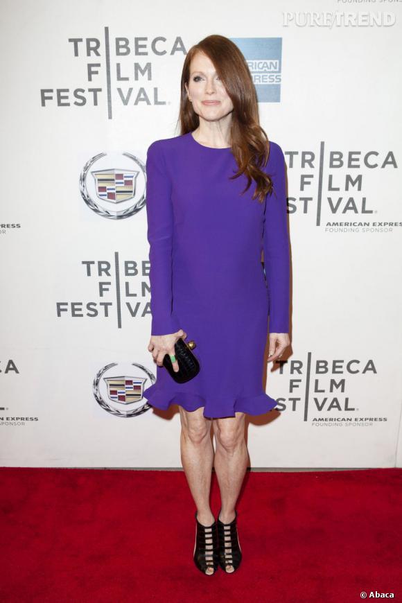 """Julianne Moore à la première de """"The English Teacher"""" au Tribeca Festival de New York."""