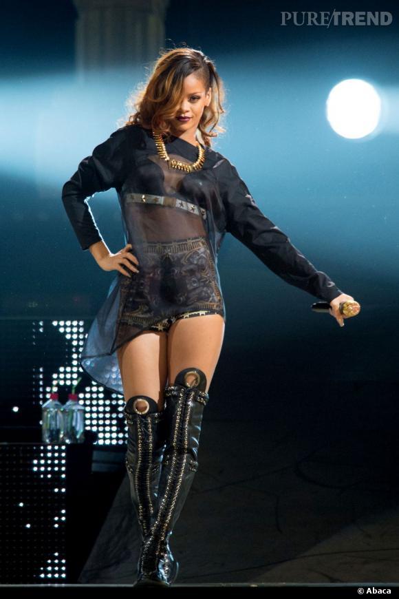 N°2 :  Rihanna, qui était troisème l'année dernière, monte jusqu'à la deuxième marche du podium. Provocante, sexy, sauvage : on ne se lasse pas de la chanteuse choc !