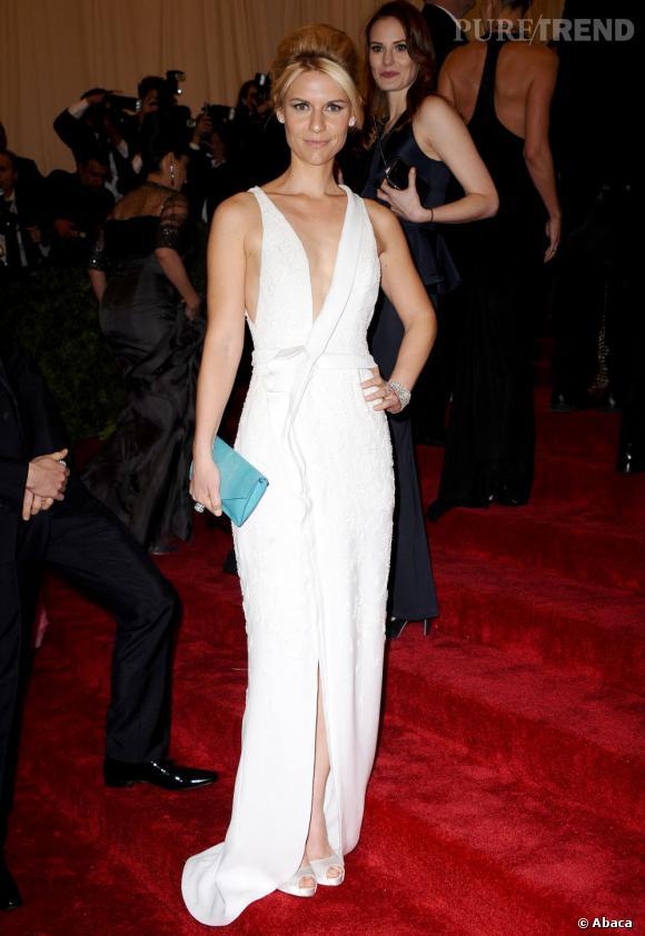 Le Gala du Met Costume Institute en 2012 : Claire Danes en J.Mendel.