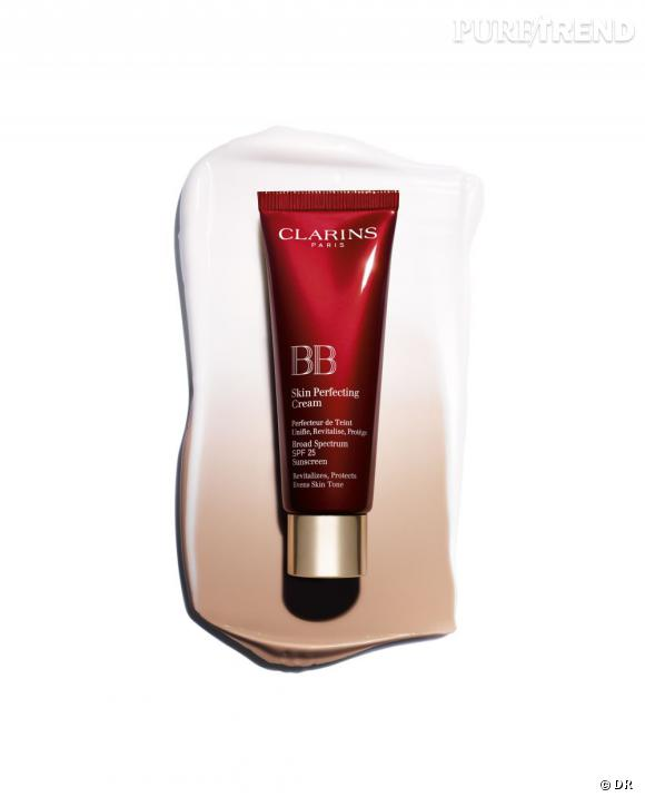 Pour un teint transparent, on craque pour la BB Skin Perfecting Cream SPF 25 de Clarins.