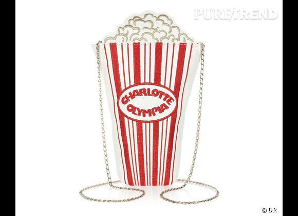 """Nos coups de coeur spécial Festival de Cannes 2013 ! Sac """"Movie Night"""" Charlotte Olympia, 395 € sur Net-a-porter.com"""