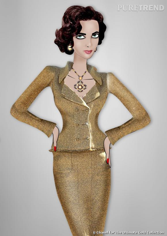"""Croquis de la tenue Chanel réalisé par l'illustratice Lula de """"Herself magazine"""", qui défilera le 23 mai prochain au Cap d'Antibes."""