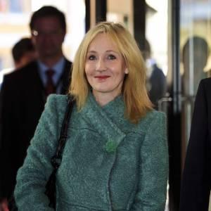 J.K Rowling s'apprêtant à rencontrer la princesse Marie du Danemark.