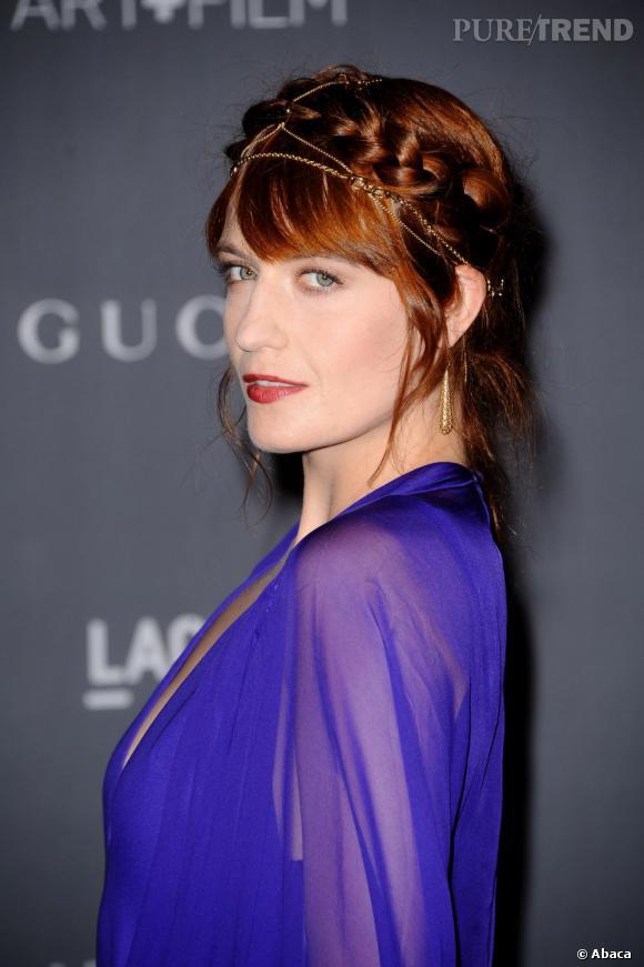 Florence Welch et sa coiffure digne de celle de Leïa.