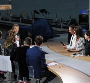 Michel Denisot et son équipe au Festival de Cannes.