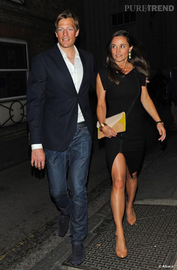 Pippa Middleton et son petit ami Nico Jackson, lors d'une soirée londonienne.