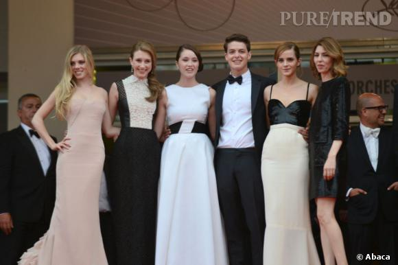 """L'équipe du film """"The Bling Ring"""" au Festival de Cannes."""