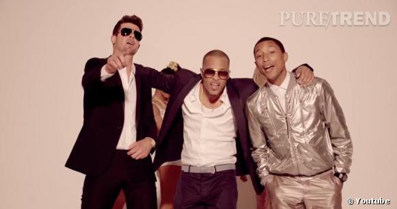 """Le clip de Robin Thicke et Pharrell Williams """"Blurred Lines"""" a été banni de Youtube."""