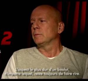 """""""Red 2"""", l'interview de Bruce Willis et Anthony Hopkins."""