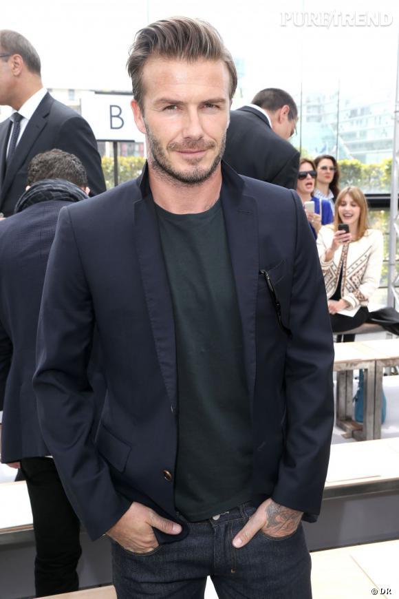 David Beckham à Paris pour le défilé Homme Louis Vuitton Printemps-Été 2014.