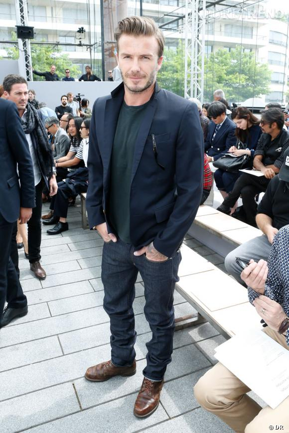 David Beckham, la star du défilé Homme Louis Vuitton Printemps-Été 2014.