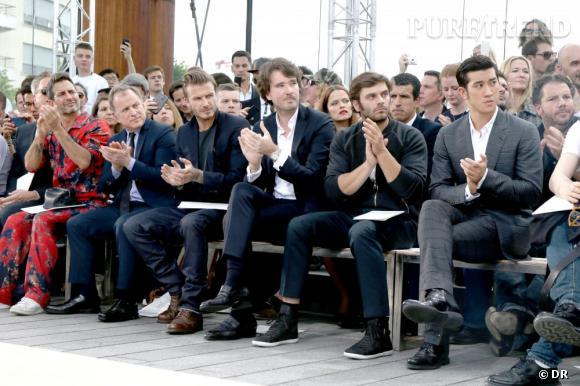 Un premier rang très star lors du défilé Homme Louis Vuitton Printemps-Été 2014.