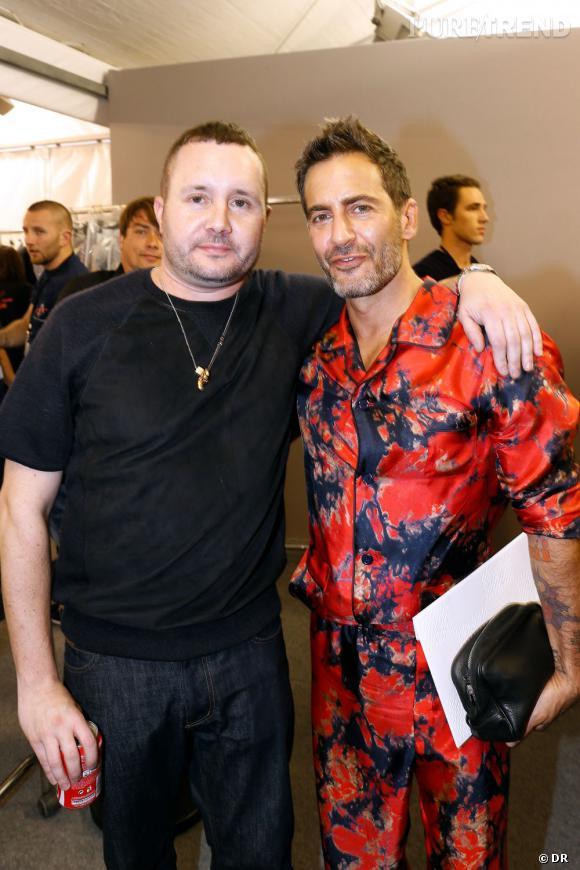 Kim Jones et Marc Jacobs dans les backstages du défilé Homme Louis Vuitton  Printemps-Été ad3763a3b9a0