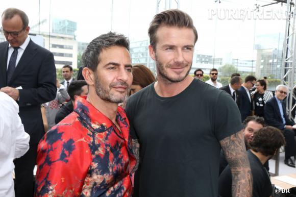 Marc Jacobs et David Beckham au défilé Homme Louis Vuitton Printemps-Été  2014. 0acb770a11bb