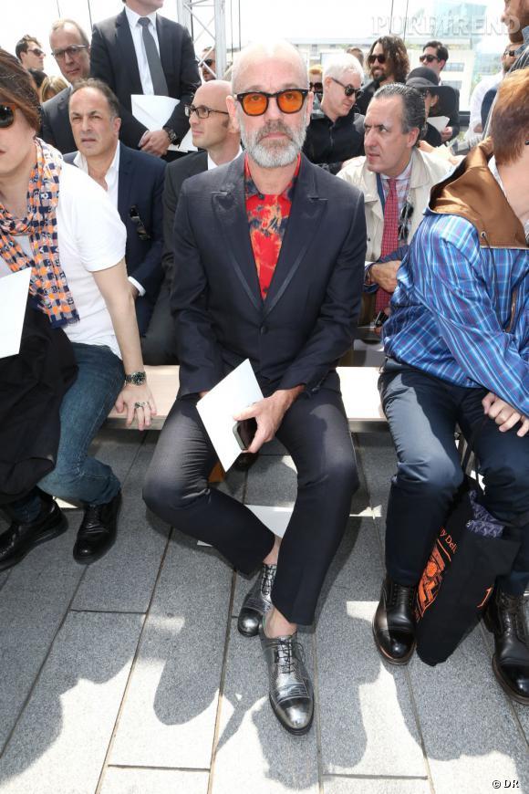 Michael Stipe, chanteur du groupe R.E.M, au défilé Homme Louis Vuitton Printemps-Été 2014.