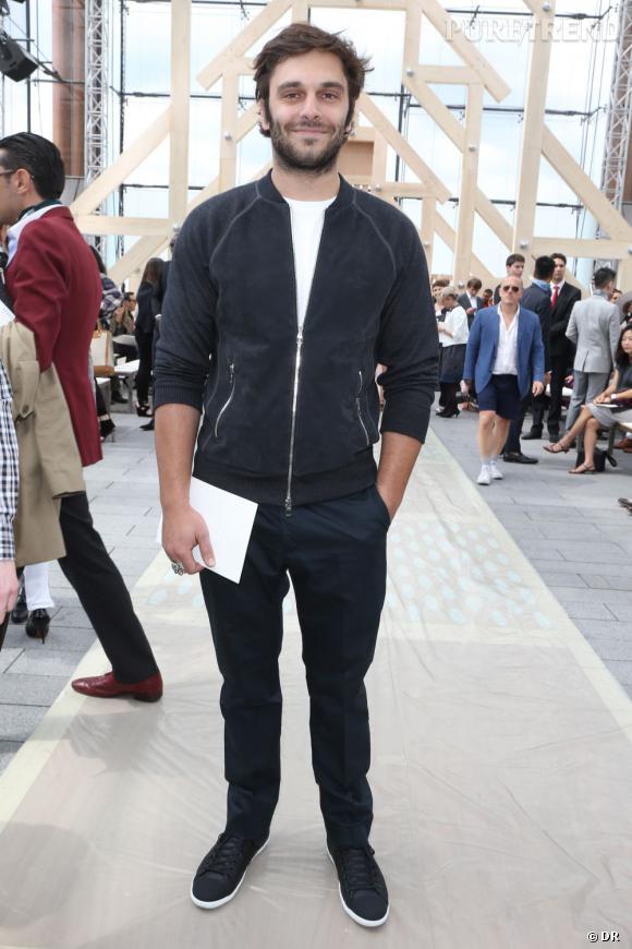 L'acteur français Pio Marmaï au défilé Homme Louis Vuitton Printemps-Été 2014.