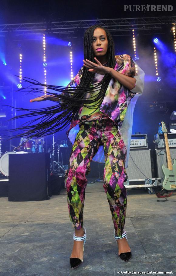 Solange Knowles a enflammé la scène au Festival de Glastonbury 2013.