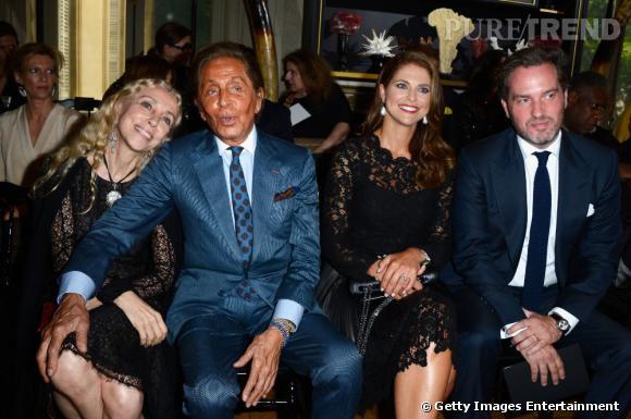 Franca Sozzani, Valentino, la Princesse Madeleine de Suède et son mari Christopher O'Neill au défilé Haute Couture Automne-Hiver 2013/2014 Valentino.