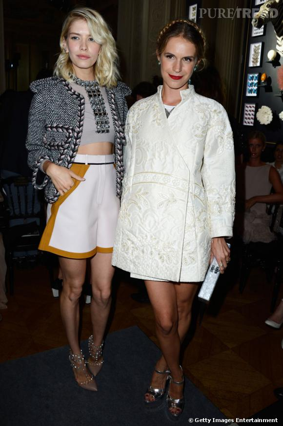 Elena Perminova et Eugenie Niarchos chez Valentino.